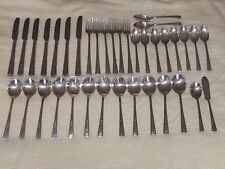 Vintage 37 Pieces WM. ROGERS MFG.Co Extra Plate Silverware Flatware Serving Set