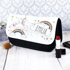 Personalised Unicorn Any Name Make Up Bag Birthday Christmas Gift Present Kids