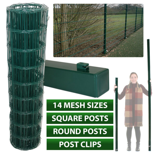 25m x 1.5//2.4mm PVC Chain Link Fence 1.25m High Hole Size Wire x 50mm x 50mm