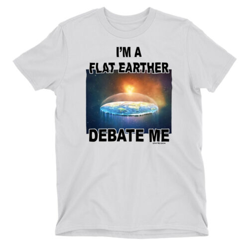 Kids T-Shirt DEBATE ME Flat Earther Earth World Space Conspiracy Theory Unisex
