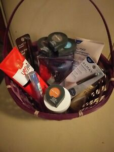 Makeup Gift Basket:britney spear midnight and almay's product