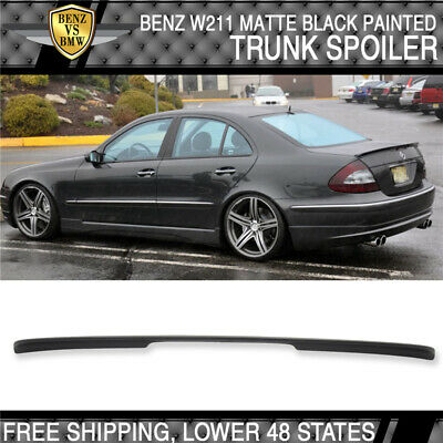 03-09 Mercedes-Benz E-Class W211 4Dr AMG Style Unpainted ABS Trunk Spoiler