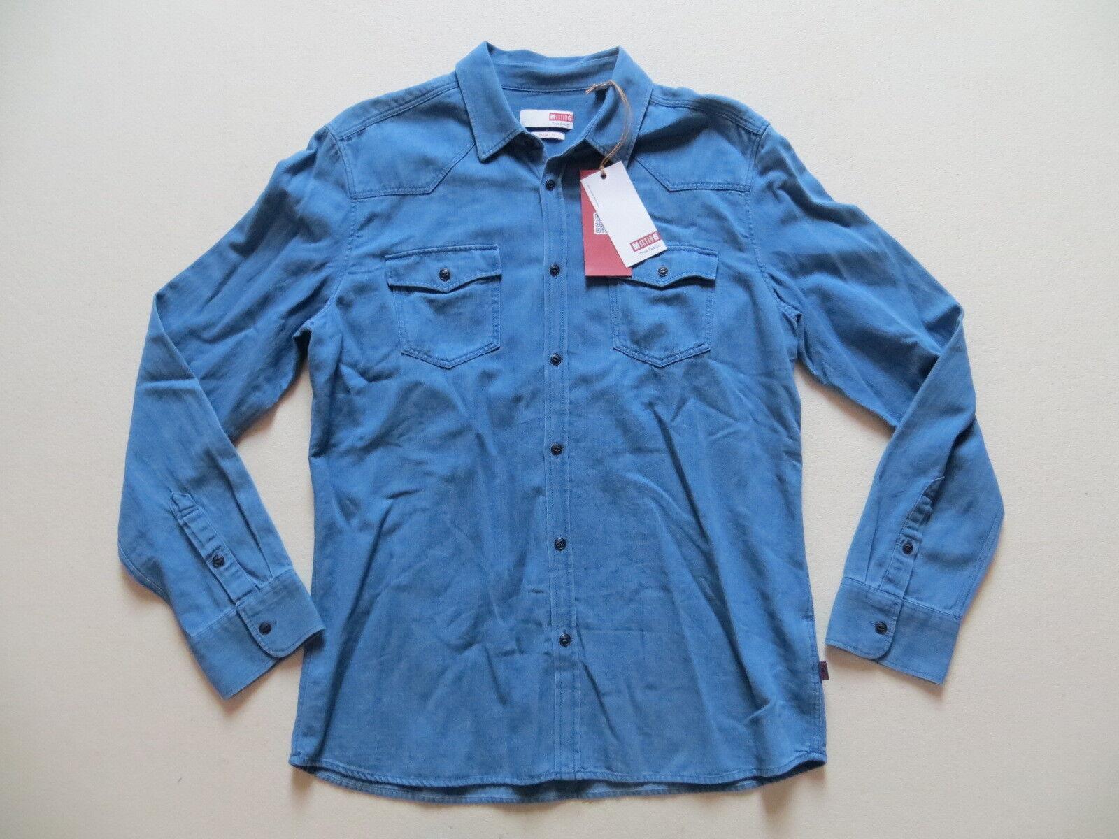 Mustang Jeans Hemd Jeanshemd Gr. L, NEU   Slim Fit, True Denim, Klassiker   EAC