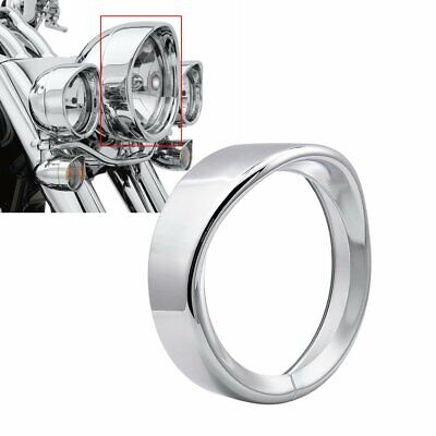 7 Inch Headlight Trim Ring Cover Bezel For Harley Road King Electra Glide Chrome