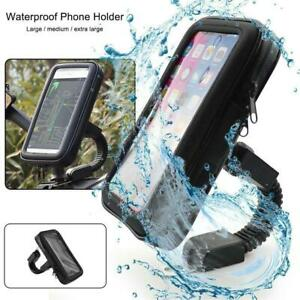 Motorbike-Bicycle-Phone-Mount-Case-Holder-Waterproof-For-Phone-360-NEW-Z2P6