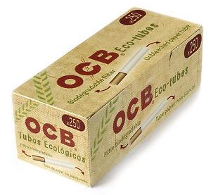 1 Box Ocb Eco Tubes Unbleached Paper Biodegradable