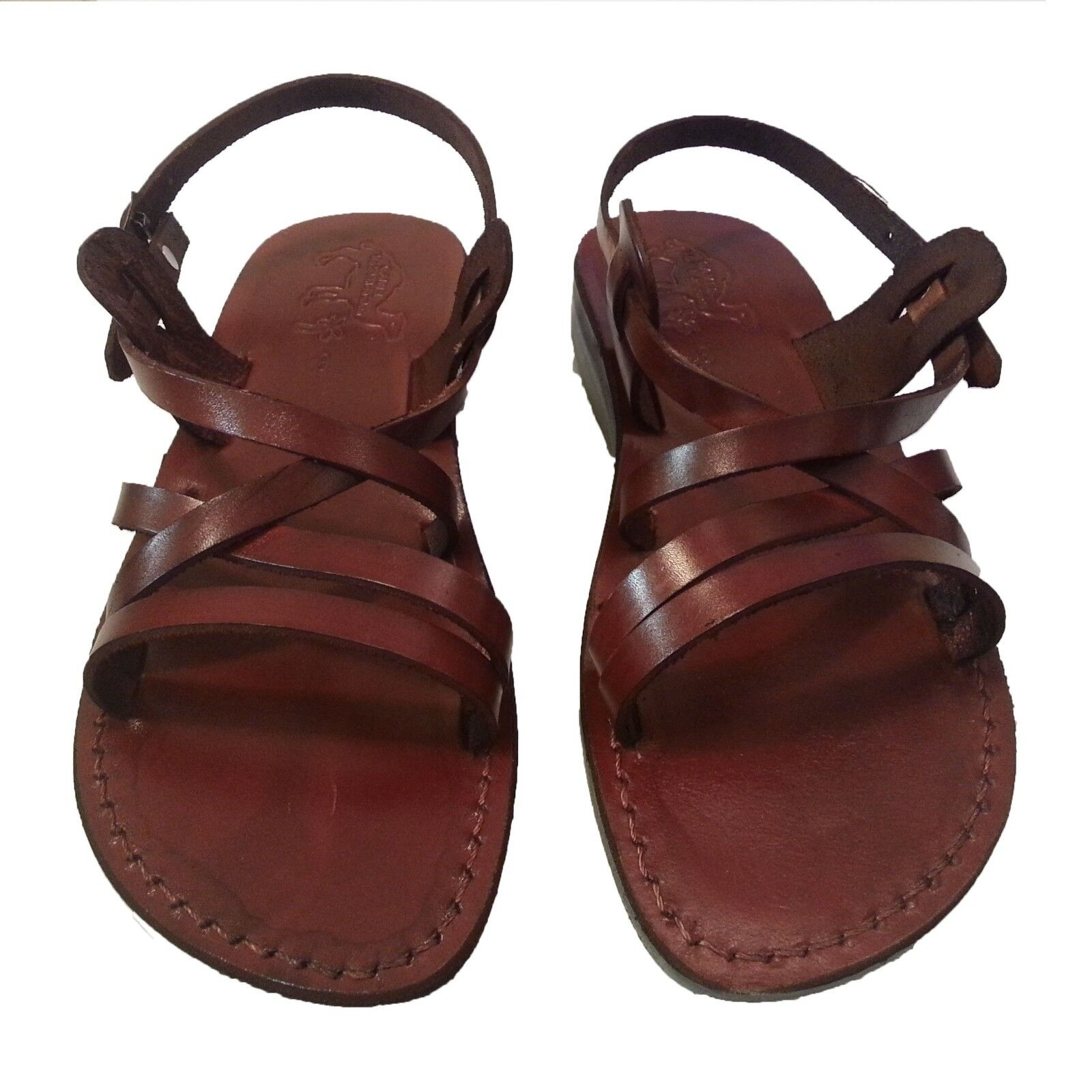 650d960709083 Women s Brown Leather Biblical Jesus Sandals Slip On shoes Size US 5-10 EU  35