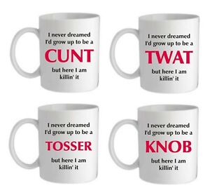 Rude Adult Gift for him her personalised any swear word birthday mens womens