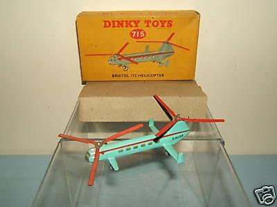 Dinky Juguetes Modelo No.715 Bristol 173 MIB de helicóptero