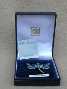 AMERICAN STERLING SILVER FINE ENAMELS BROOCH NATURE DRAGONFLY TURQUOISE BLUE - <span itemprop='availableAtOrFrom'>Bristol, Avon, United Kingdom</span> - AMERICAN STERLING SILVER FINE ENAMELS BROOCH NATURE DRAGONFLY TURQUOISE BLUE - Bristol, Avon, United Kingdom