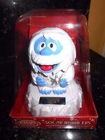 Solar Powered Abominable Snowman Bobble Head Free Gift - Nip