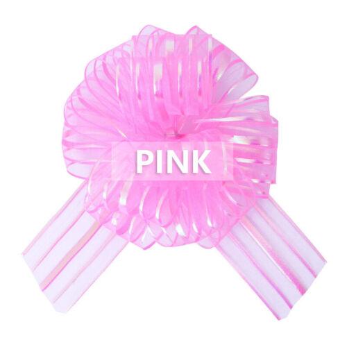 5pcs//lot Organza Large Pull Bow Ribbons DIY Wedding Car Room Decoration New
