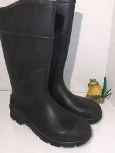 Knee-Boots-16-034-H-Black-Plain-PR-HONEYWELL-SERVUS-Mens-Size-10