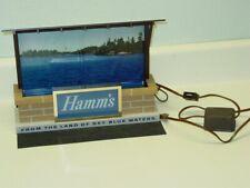 Vintage Hamm's Beer Light Bar Top Sign, Sky Blue Waters, Works, Nice!