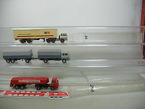 Ai719-1-3x-Wiking-h0-camion-Hanomag-Henschel-WM-transportes-Wackenhut-etc