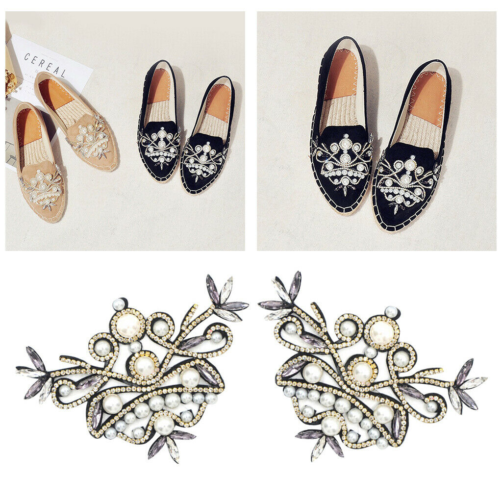 New Women Girls Crystal Shoe Charms Clip Wedding Bridal Shoes Decoration