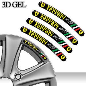 4 FERRARI RACING FELGENRANDAUFKLEBER 3D GEL AUFKLEBER AUTO CAR RIM STICKERS C36