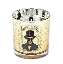 D.L. & Co Luxury Designer Candle Spooky Skeleton Skull Black Top Hat Gothic
