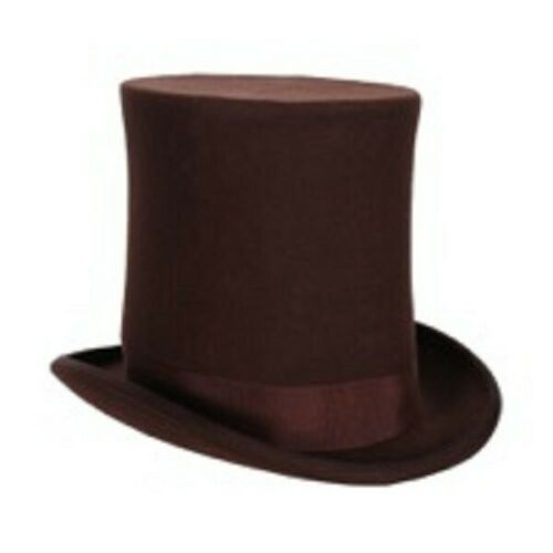 Brown Victorien Deluxe chapeau haut-Tall