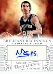 2012-13-Panini-Brilliance-Brilliant-Beginnings-Autographs-51-Nando-De-Colo-Auto