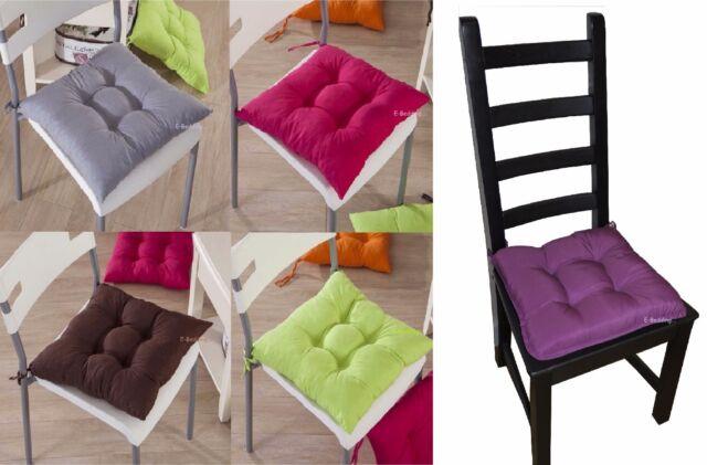 6 x grosso più spessa cuscino sedia sala da pranzo Seatpad camera da letto giardino cucina rimovibile