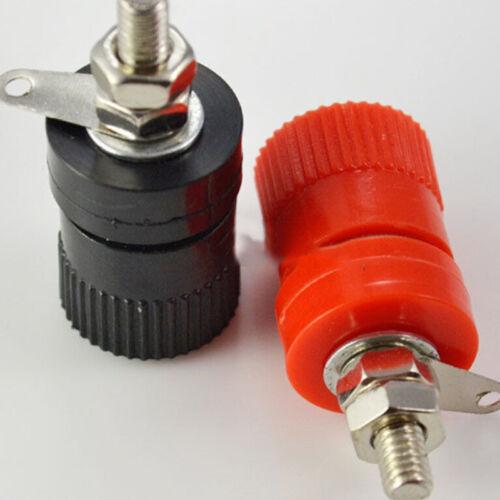 2pcs Amplifier Terminal Binding Post Banana Plug Jack Panel mount Lager Size ca