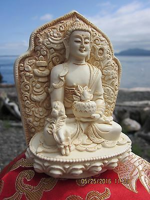 "LARGER 4"" VERY DETAILED HEALING BELOVED TIBETAN BUDDHIST MEDICINE BUDDHA STATUE"