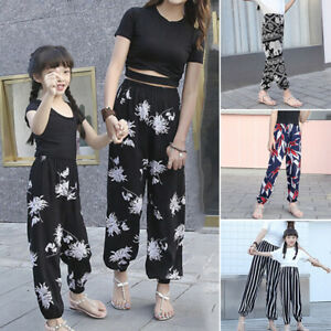 Kids-Girl-Baby-Long-Leggings-Flower-Floral-Print-Pants-Casual-Party-Trousers-New