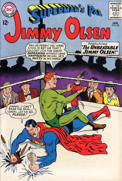 SUPERMAN'S PAL JIMMY OLSEN #82 VG, spine roll,  DC Comics 1965