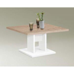 Details Zu Höhe 50 Cm Tisch Couchtisch Wohnzimmertisch Bandol Weiß Eiche Sägerau Sonoma