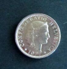 Münze 20 Rappen Schweizer Franken 1977 aus Umlauf gültiges Zahlungsmittel