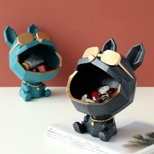 Dog Animal Statue Desk Home Decor Storage Figurine Sculpture Box for Table Art