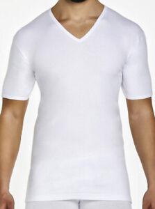 3 T-Shirt Pierre Cardin Kurze Ärmel V-Ausschnitt aus Baumwolle * Art Paris