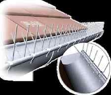Taubenabwehr, Taubenschutz für die Dachrinne, 1 METER, 2 mm stark mit Drahtbügel