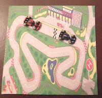 1/12 Dolls House Miniature 2x Metal Toy Racing Cars Mat Dinky Nursery Toys Lgw