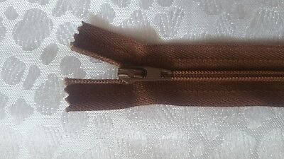 CHESTNUT BROWN YKK Closed End Nylon Zips Sewing Cushions upholstery Crafts SUPER