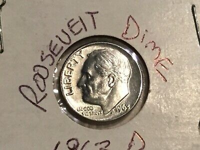 1960 D Roosevelt Dime 90/% Silver Extra Fine XF