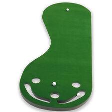 Indoor Practice Putting Green Golf Mat Training Aid Equipment 3 Holes Great Gift