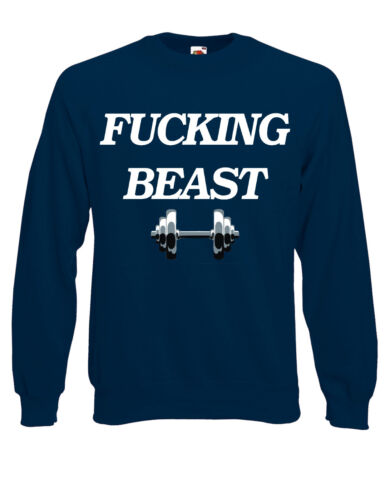 F*$@#^ing bête de levage gym gains de poids pullover pull sweater AI81