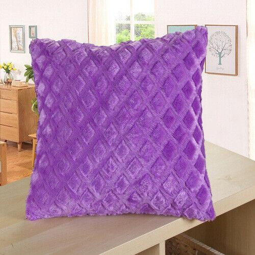 Solid Luxury Soft Velvet Cushion Cover Soft Throw Pillow Cases Sofa Home Decor