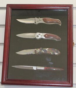 Knife Display Case Shadow Box Wall Mount Glass Door
