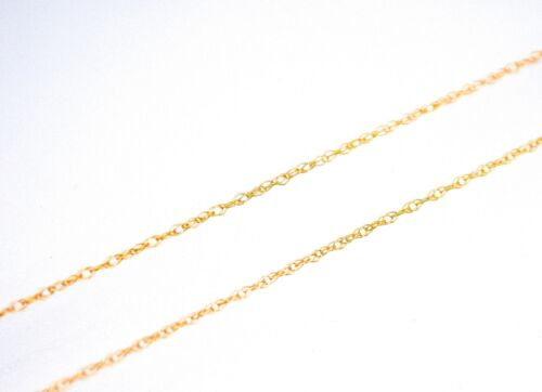 Twisted Rope Chain 14K Solid Yellow Gold Necklace Men/'s /& Ladie/'s 0.5mm New