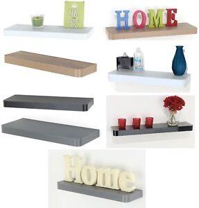 Floating Wooden Wood Shelves Shelf Home Decoration Display Storage Unit Kit New