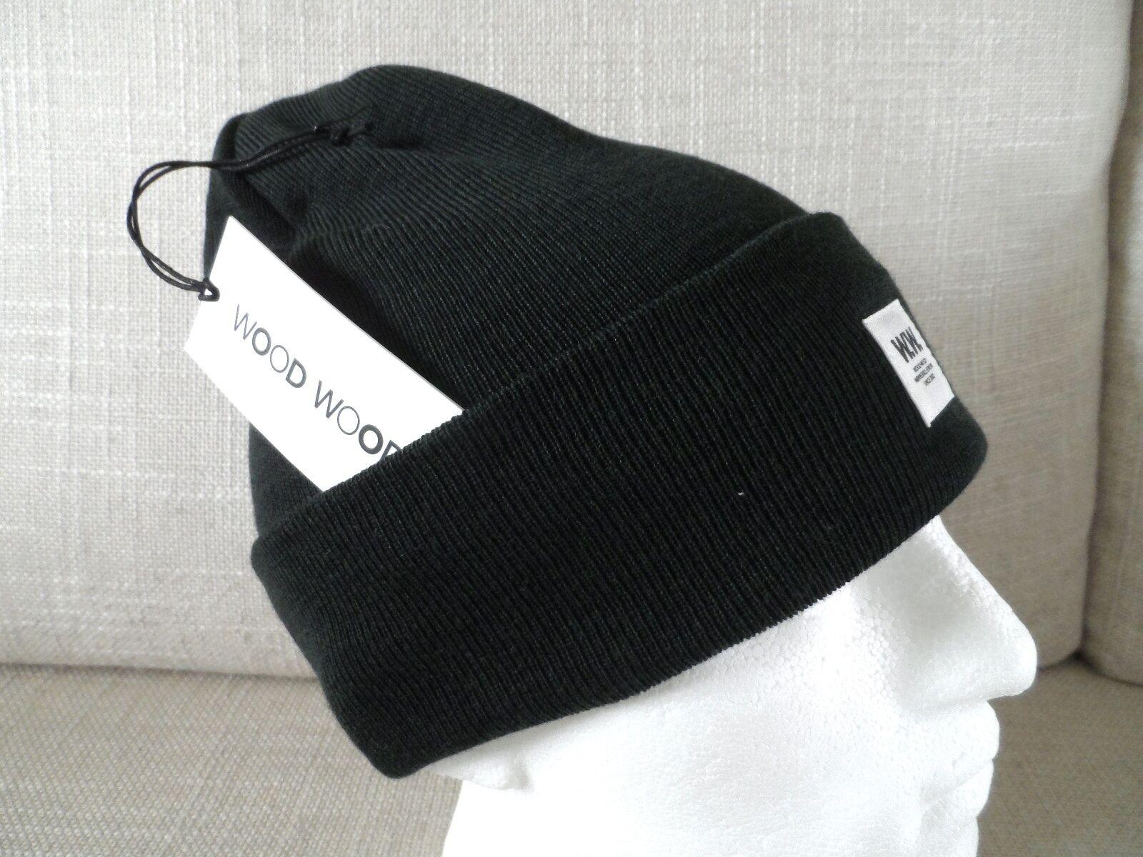 W.W. WOOD WOOD Denmark MERINO Duffel Tasche Cuff Beanie Hat Toque UNISEX TAG