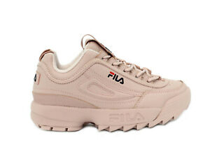 SCARPE-FILA-SNEAKERS-DONNA-DISRUPTOR-LOW-WMN-1010302-71P-ROSA-SMOKE-ROSE-NUOVE
