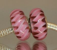 Spirelli Spirale Rood Rosso Rot Red Rojo 925 Sterling Silber Murano Glas Bead