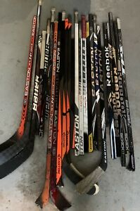 READ DESCRIPTION Pro Stock Assorted Hockey Stick Shafts /& Broken Sticks