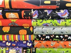 Henry-Glass-THE-COUNT-Halloween-fabric-Priced-By-The-1-2-yard
