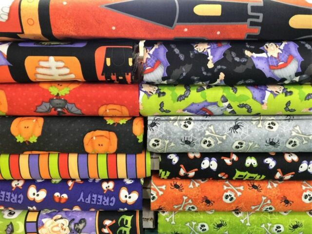 Henry Glass ~ THE COUNT ~ Halloween fabric ~ Priced By The 1/2 yard