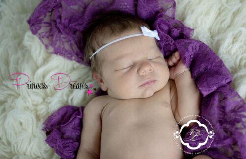 Princess-Dreams Mädchen Baby Haarband Taufe rosa weiß Schleife Fotografie Props